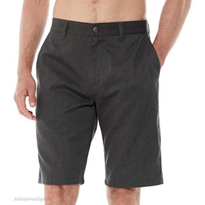 DINOGREY Relaxed Fit Men's Chino Shorts with Flat Front Zip Fly Casual Straight Leg