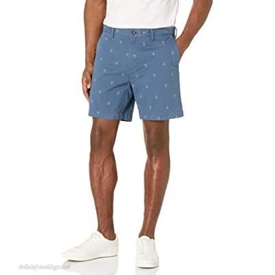 "Essentials Men's Slim-fit 7"" Short Navy Anchor 40"