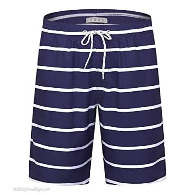 APTRO Men's Swim Trunks Long Quick Dry Bathing Suits Vacation Board Shorts Swim with Mesh Lining