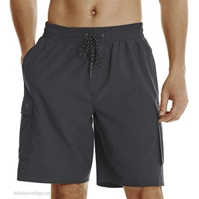 HODOSPORTS Mens Quick Dry Swim Trunks with Mesh Lining