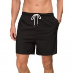 Janmid Men's Swim Trunks Quick Dry Beach Shorts with Pockets