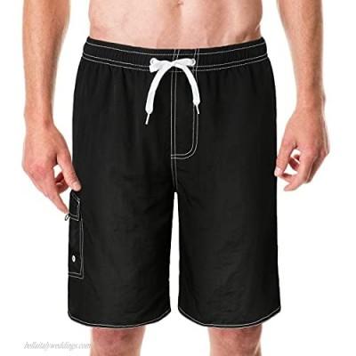 Mens Swim Trunks Quick Dry Swim Shorts with Mesh Lining Funny Swimwear Bathing Suits