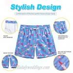 WULFUL Mens Quick Dry Short Swim Trunks with Mesh Lining