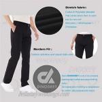 DINOGREY Men's Flat Front Chino Pants - Modern Fit Stretch Regular Twill Khaki Pant