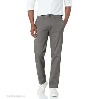 Haggar Men's Coastal Comfort Straight Fit Superflex Waist Flat Front Pant Medium Grey 32Wx30L