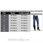 III-Fashions Men's 100% Black Multi Pockets Genuine Leather Biker Pants/Biker Hose & Cargo Pockets Trousers