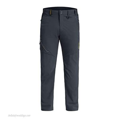 LASIUMIAT Cargo Pants for Men Relaxed Fit Hiking Pants Men Quick Dry for Men with Zipper Pockets