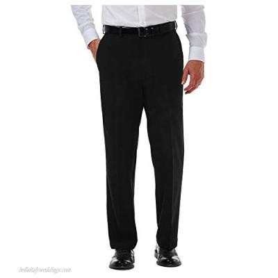Haggar Men's Cool 18 Pro Classic Fit Flat Front Hidden Expandable Waist Pant- Regular and Big & Tall Sizes
