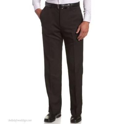 Haggar mens Haggar Men's Cool 18 Classic Fit Hidden Expandable Waist Pant  Black 44x32