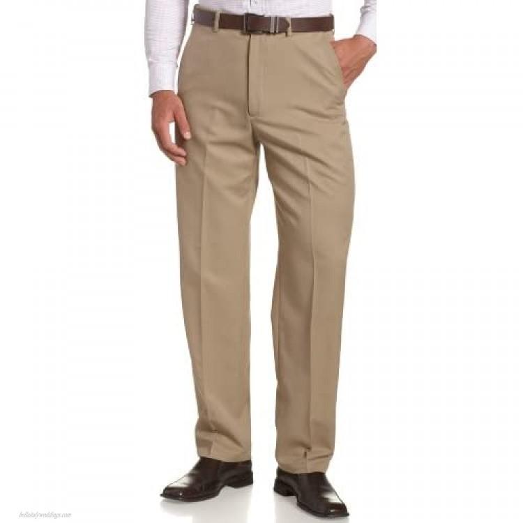 Haggar mens Haggar Men's Cool 18 Classic Fit Hidden Expandable Waist Pant British Khaki 38x29