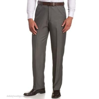 Haggar mens Haggar Men's Cool 18 Classic Fit Hidden Expandable Waist Pant  Graphite 34x30