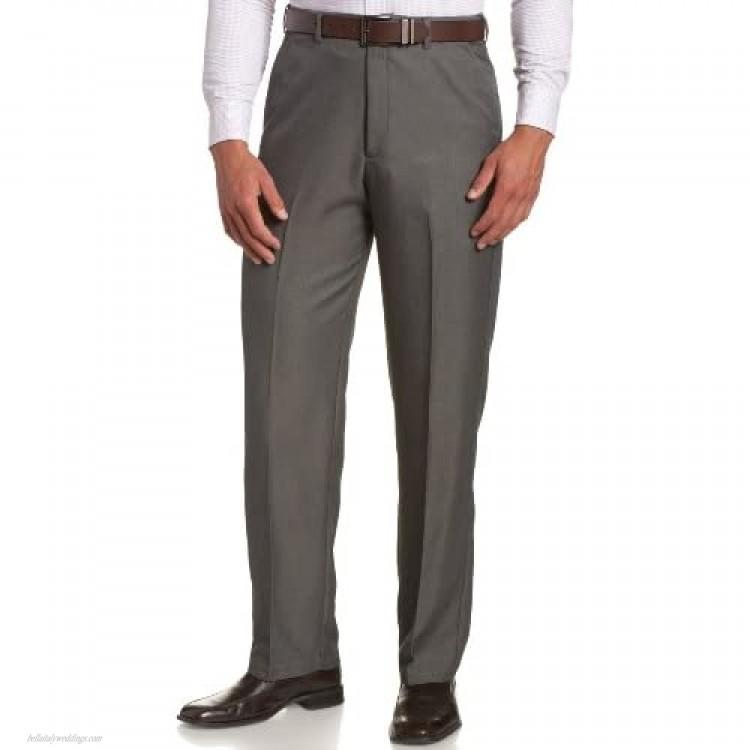 Haggar mens Haggar Men's Cool 18 Classic Fit Hidden Expandable Waist Pant Graphite 40x29