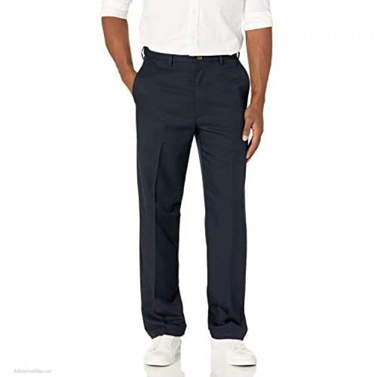 Haggar mens Haggar Men's Cool 18 Classic Fit Hidden Expandable Waist Pant Navy 32x32