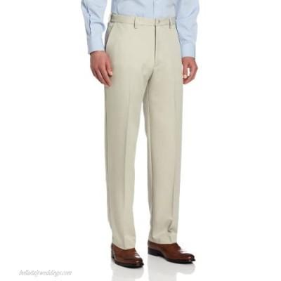 Haggar mens Haggar Men's Cool 18 Classic Fit Hidden Expandable Waist Pant  String Beige 38x29