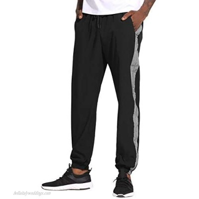 Aiboria Mens Jogger Sweatpants Quick Dry Sportwear Hiking Gym Workout Running Sports Pants Breathable with Pockets
