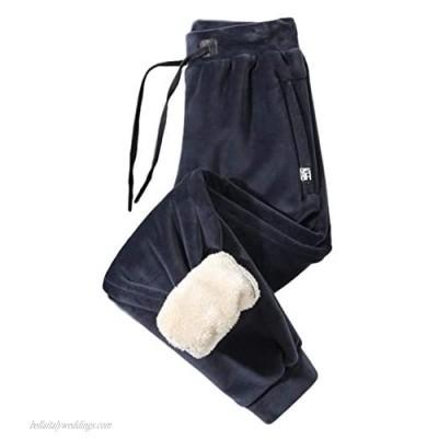 Gihuo Men's Comfy Sherpa Lined Sweatpants Winter Fleece Pants Jogger