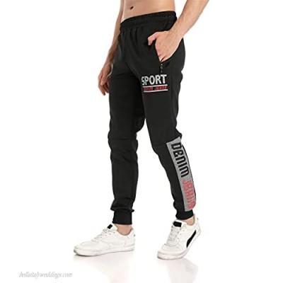 LINTEBOB Mens Jogger Sweatpants Leisure Athletic Pants Workout Athletic Pants