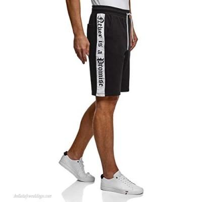 oodji Ultra Men's Cotton Shorts with Drawstrings