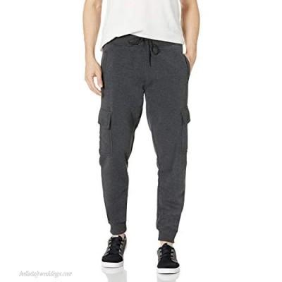 WT02 Men's Basic Jogger Fleece Pants Heather Charcoal1 X-Large