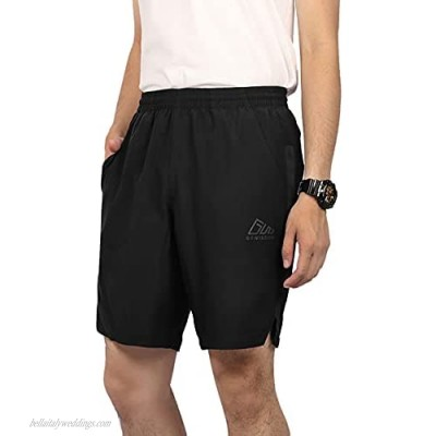GOWISDOM Running Shorts Breathable Quick Dry Lightweight Pocket Short Pants for Men Gym Athletic Shorts