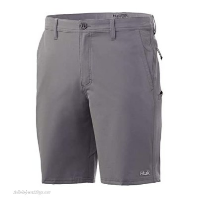 """Huk Men's Reserve 20"""" Quick-Drying Performance Fishing Shorts with UPF 30+ Sun Protection Sharkskin 28"""