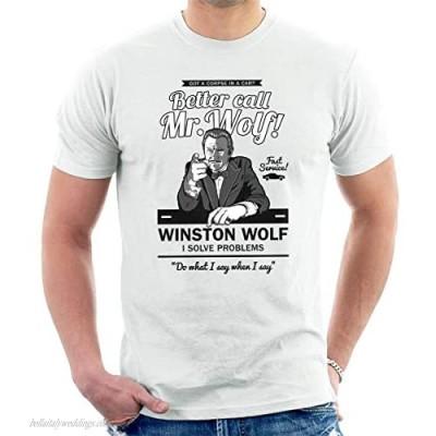Better Call Mr Wolf Pulp Fiction Men's T-Shirt