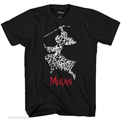 Disney Mulan Movie Silhouette Poster Disneyland Graphic Adult T-Shirt