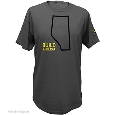 John Deere Build Canadian Province Pride Short Sleeve Tee-Alberta-Large