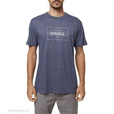 O'NEILL Mens Printables S/S Screen Tee Navy Heather/Ticket M