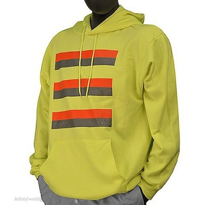 Majestic Glove 75-5075/X4 Hoodie 50/50 Poly/Cotton Sight Safety 4X-Large Yellow