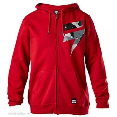 Shift Racing Mens Barbolt Fleece Hoody Zip Sweatshirt Small Cardinal
