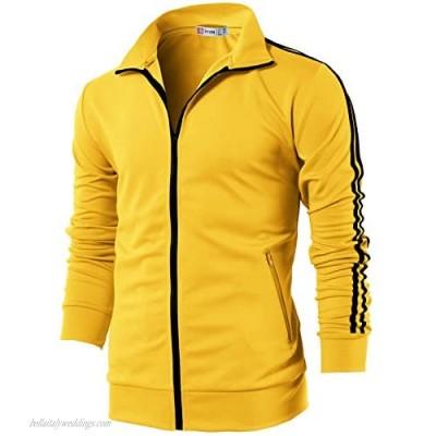 H2H Mens Active Slim Fit Track Lightweight Jacket Zip-up Long Sleeve Training Basic Designed