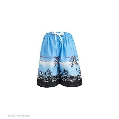 Gary Com Men's Swim Trunks Quick Dry Beach Shorts with Pockets Mesh Lining