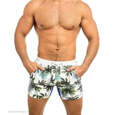 Taddlee Men's Swimwear Swimsuits Swimming Boxer Briefs Surf Board Trunks Pockets