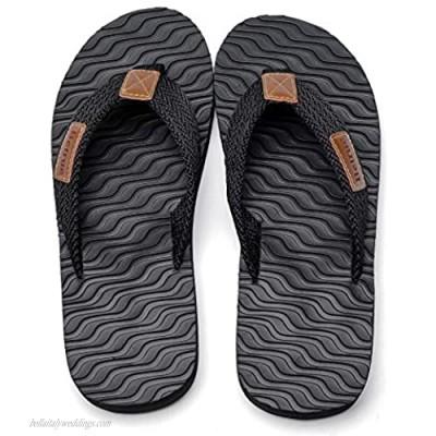 Betrue Men Beach Flip Flops EVA Sandals for Men Lightweight Mens Beach Slippers Non-Slip Flip Flops Indoor & Outdoor