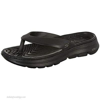 Skechers Men's Foamies Go Walk 5-Cabana Slide Sandal Black/Black 12