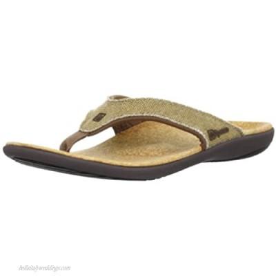 Spenco Men's Yumi Canvas Sandal Straw/Java/Cork 14M Medium US