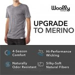 Woolly Clothing Men's Merino Wool Rugby Polo - Wicking Breathable Anti-Odor