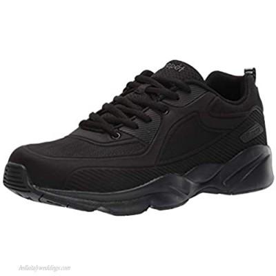 Propet Men's Stability Laser Sneaker Black 16 3E US