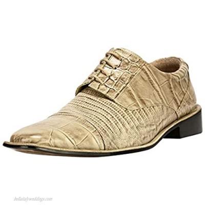 LIBERTYZENO Men's Oxford Dress Shoes Leather Cap Toe Formal Business Shoes Lace Up