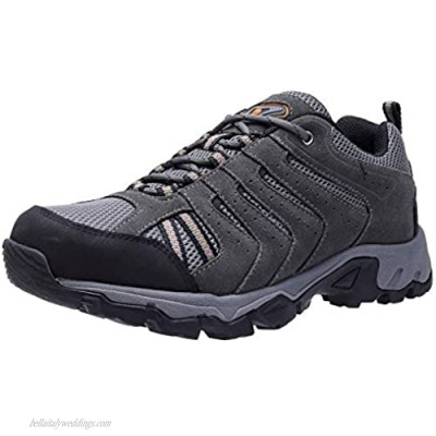 CAMELSPORTS Hiking Shoes Men Breathable Non-Slip Sneakers Lightweight Low Top for Outdoor Trailing Trekking Walking