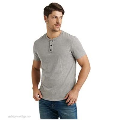 Lucky Brand Men's Short Sleeve Slub Henley T Shirt