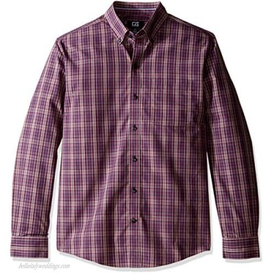 Cutter & Buck Men's Big and Tall L/S Wrinkle Free Garden Plaid