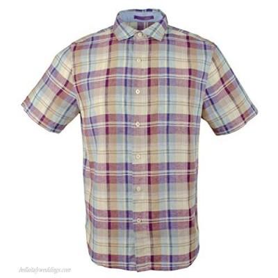 Men's La Paz Plaid Linen Camp Shirt