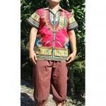 RaanPahMuang Pure Cotton Hawaiian Shirt Large Collar in African Dashiki Artwork