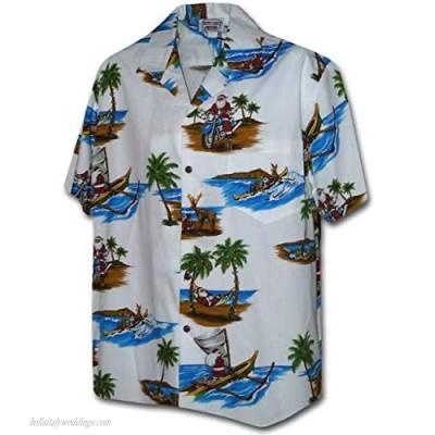 Santa in Paradise Christmas Hawaiian Shirt