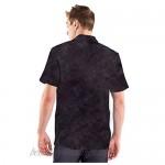 TOSKIP Mens Casual Regular Fit Short Sleeve Button Down Hawaiian Checked Shirts Palm Tree Printed Beach Wear