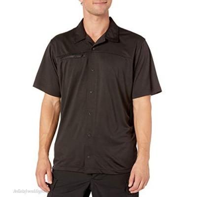 Tru-Spec Men's Eco Tec Knit Camp Shirt Black 2X-Large Regular