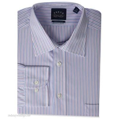 "Eagle Men's Dress Shirt Regular Fit Non Iron Stretch Collar Stripe Petal 17"" Neck 32""-33"" Sleeve (X-Large)"