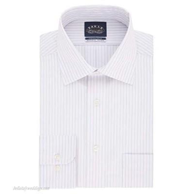 Eagle mens Regular Fit Non Iron Stretch Collar Stripe Dress Shirt Dusty Lavender 16.5 Neck 32 -33 Sleeve Large US